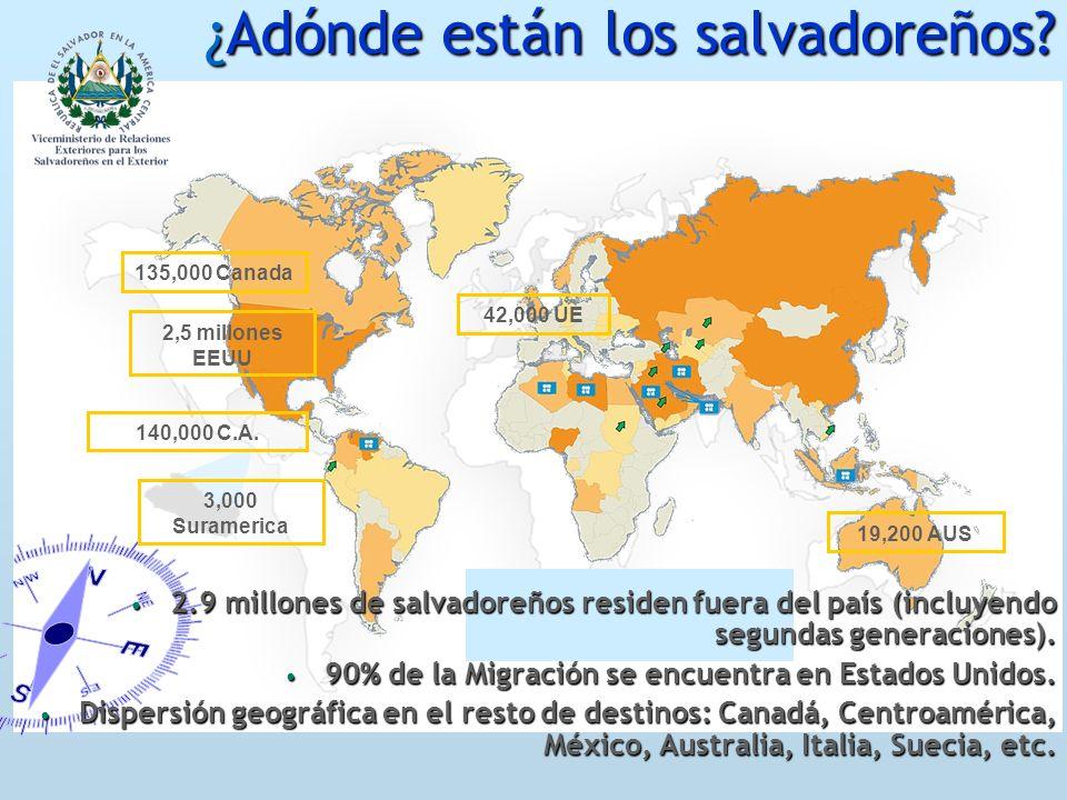 ¿Adónde están los salvadoreños