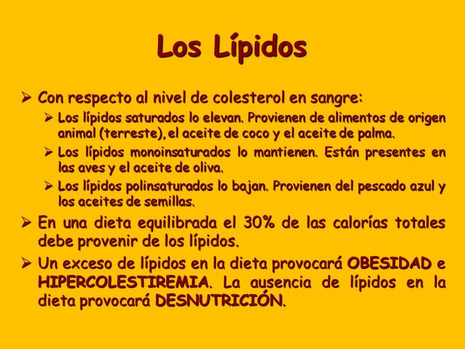 Los Lípidos Con respecto al nivel de colesterol en sangre: