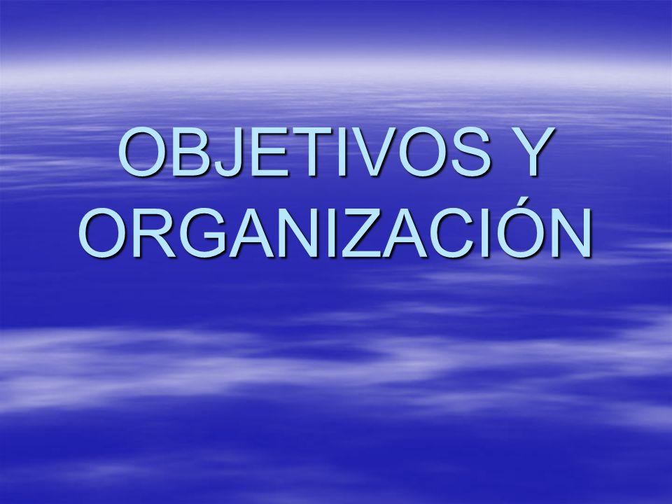 OBJETIVOS Y ORGANIZACIÓN