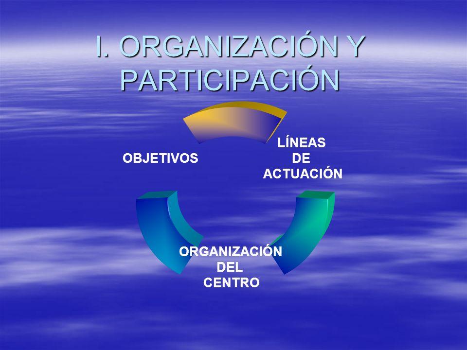 I. ORGANIZACIÓN Y PARTICIPACIÓN