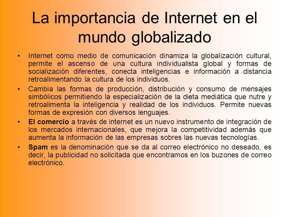La importancia de Internet en el mundo globalizado