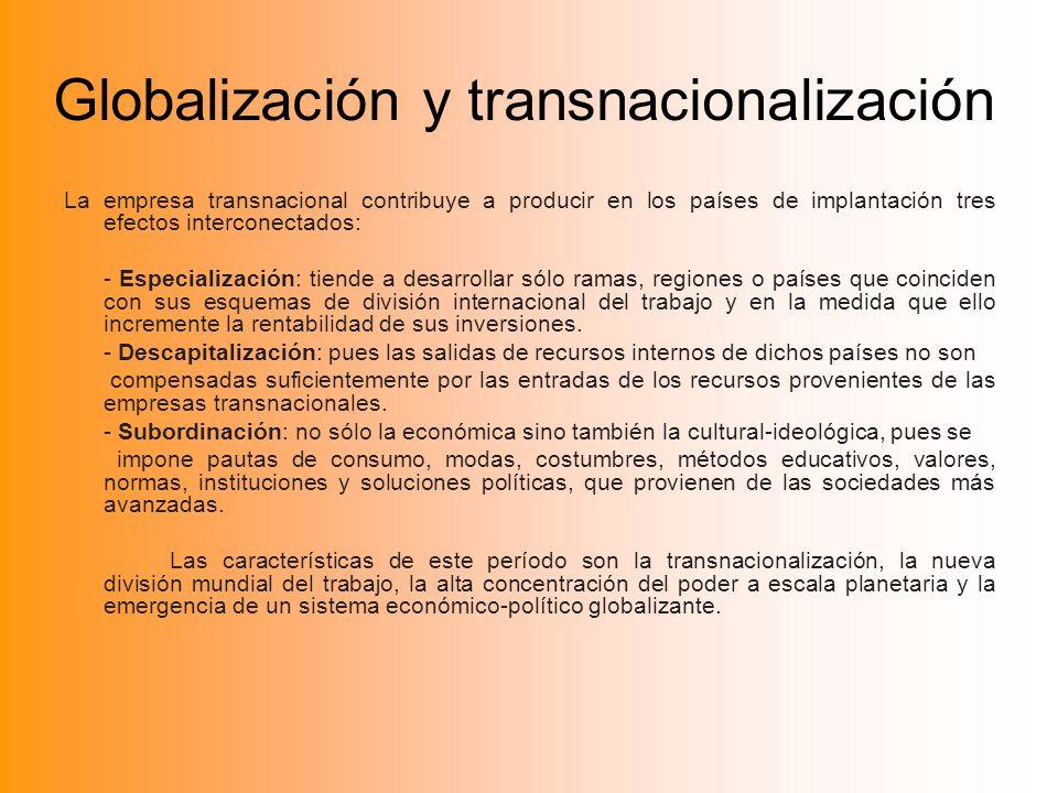 Globalización y transnacionalización