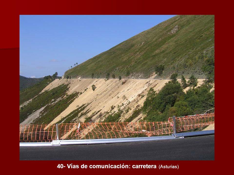 40- Vías de comunicación: carretera (Asturias)