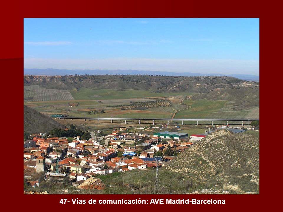 47- Vías de comunicación: AVE Madrid-Barcelona