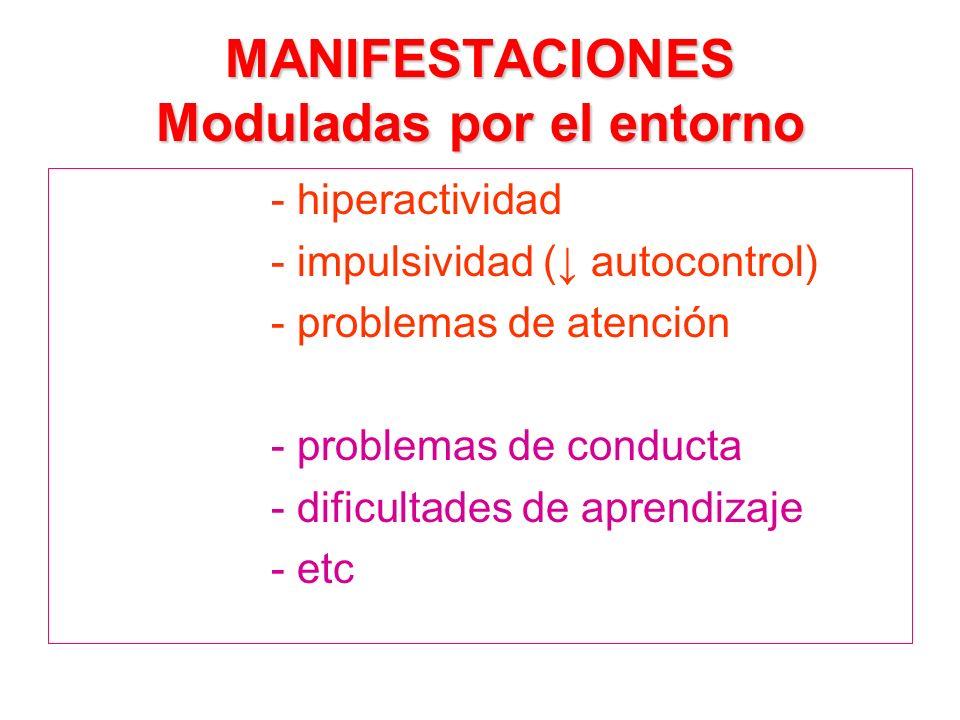 MANIFESTACIONES Moduladas por el entorno