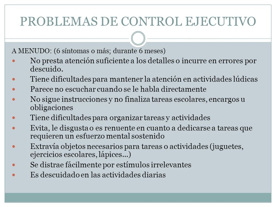 PROBLEMAS DE CONTROL EJECUTIVO