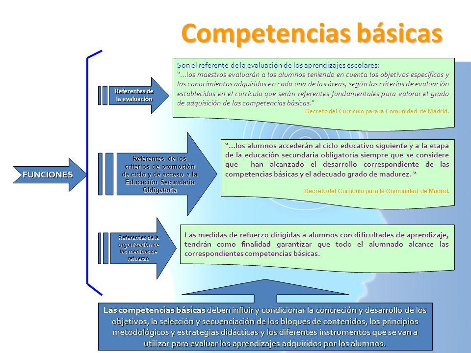 Competencias básicas FUNCIONES