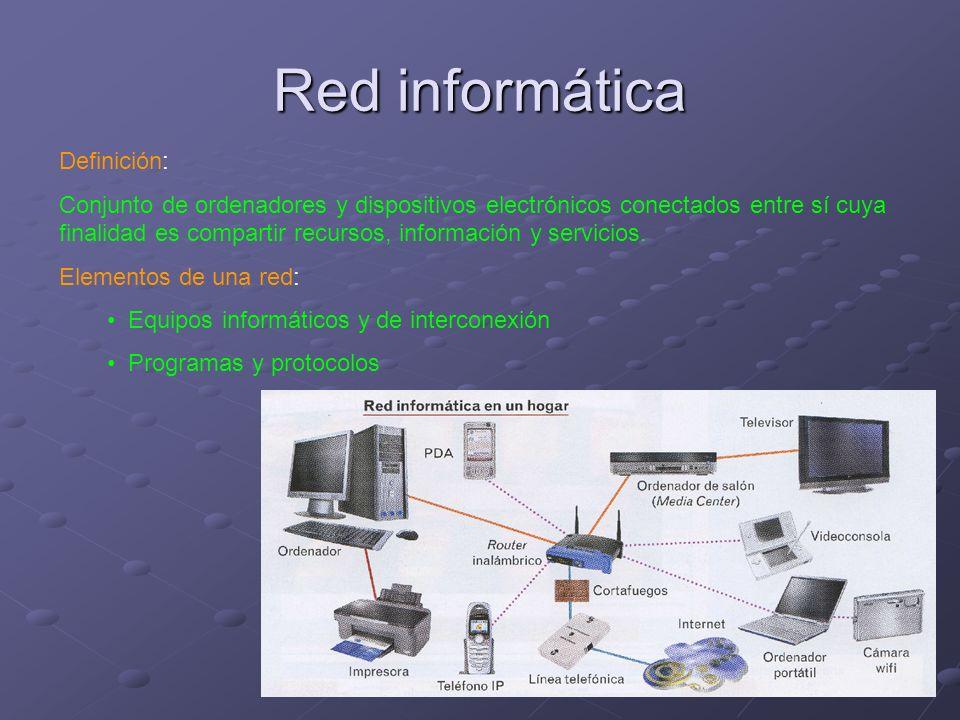 Red informática Definición: