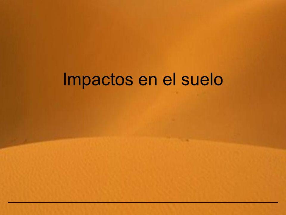 Impactos en el suelo
