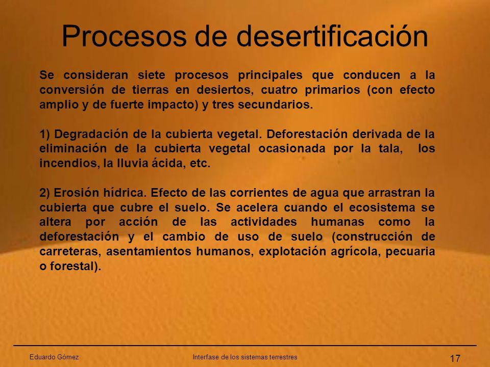 Procesos de desertificación