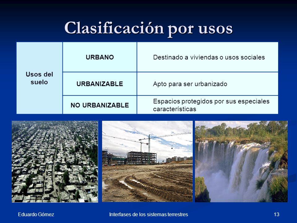 Clasificación por usos