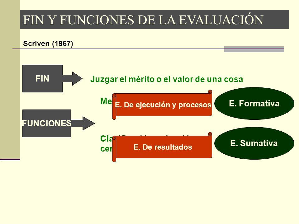 E. De ejecución y procesos