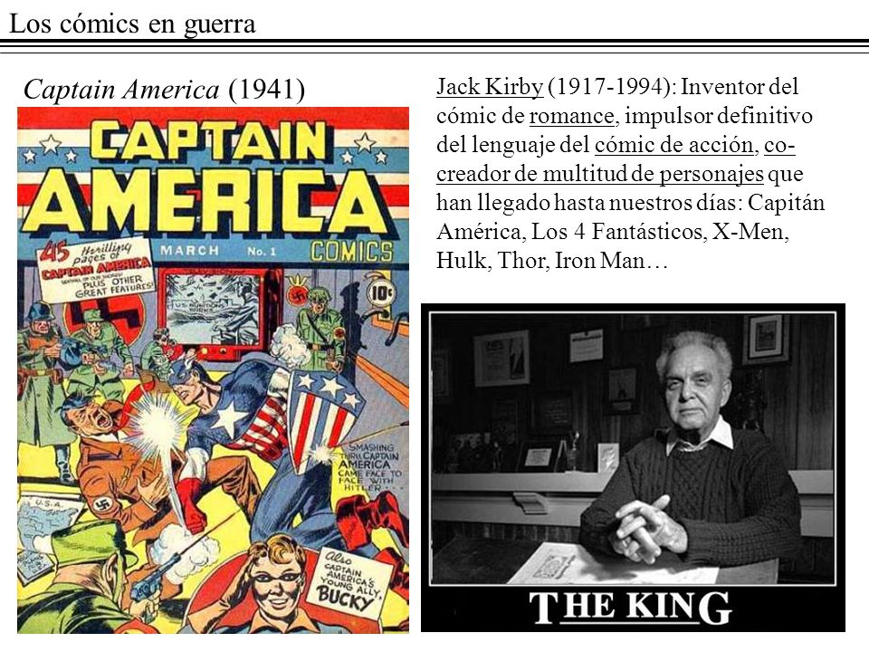 Los cómics en guerra Captain America (1941)