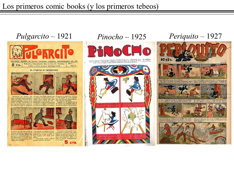 Los primeros comic books (y los primeros tebeos)