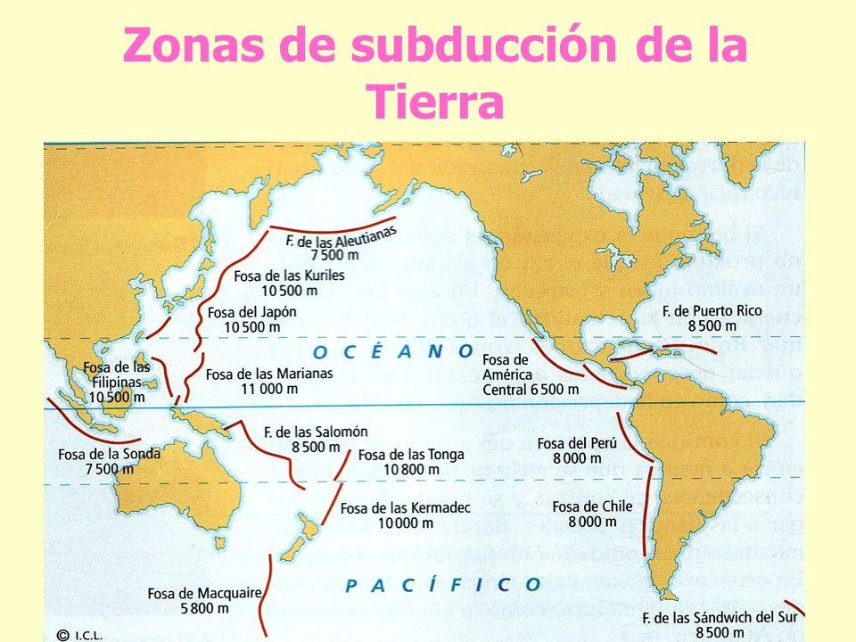 Zonas de subducción de la Tierra