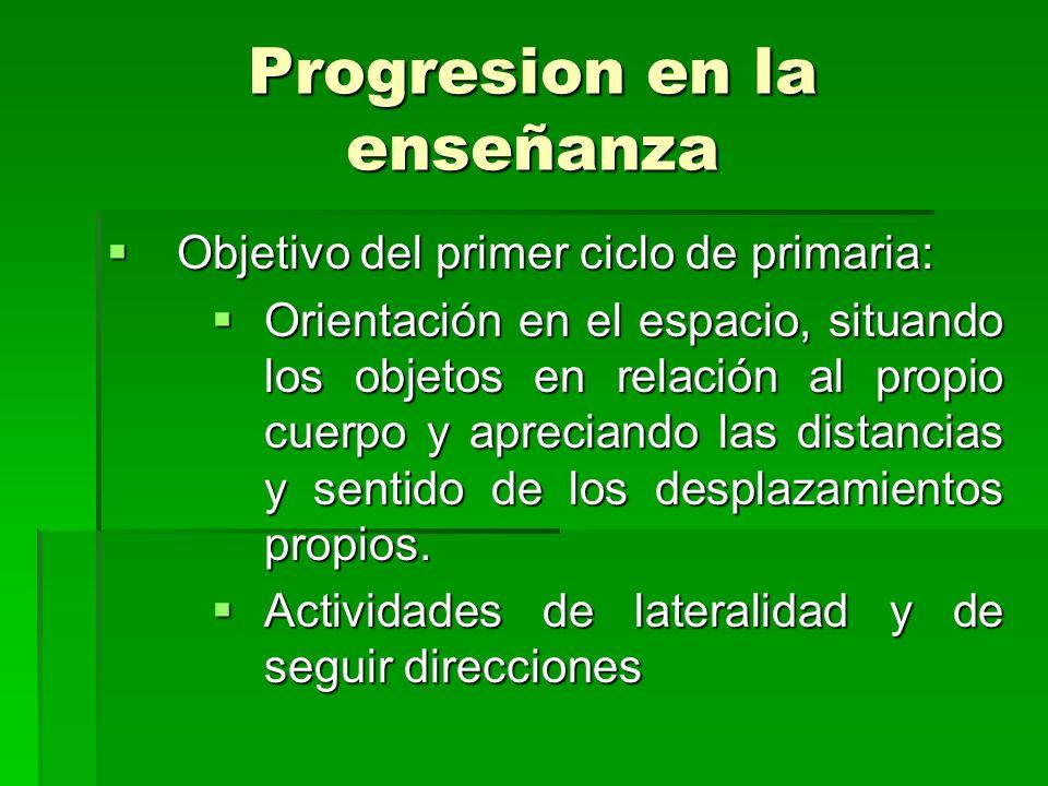 Progresion en la enseñanza