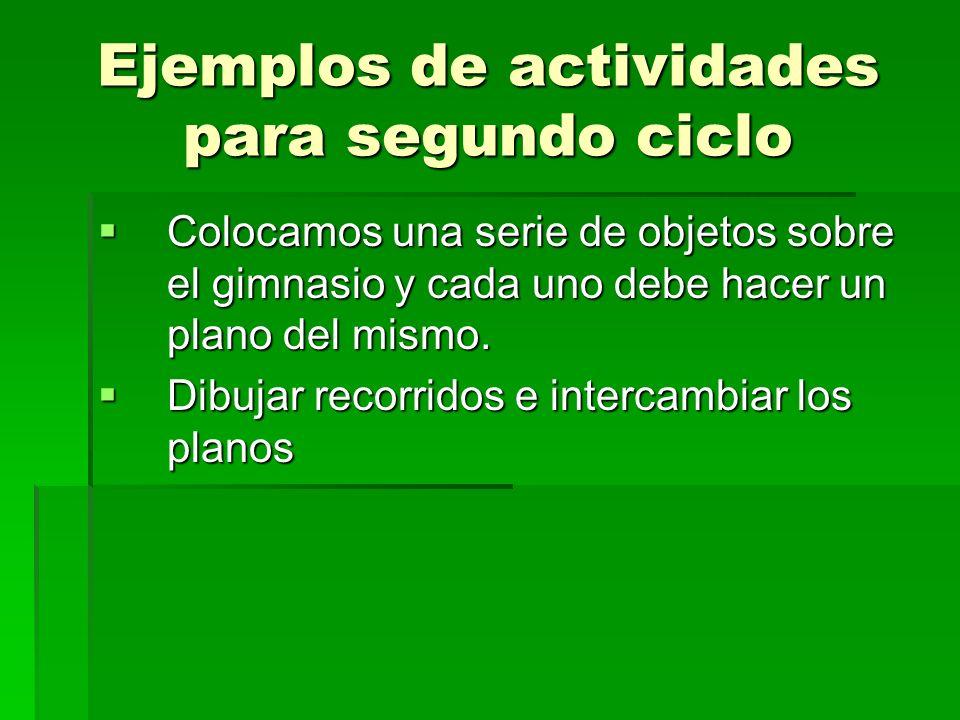 Ejemplos de actividades para segundo ciclo