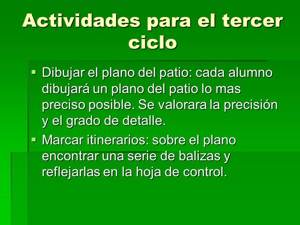 Actividades para el tercer ciclo