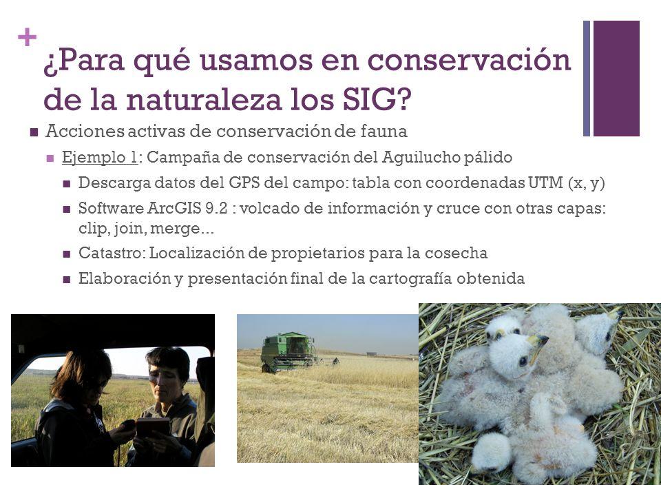 ¿Para qué usamos en conservación de la naturaleza los SIG