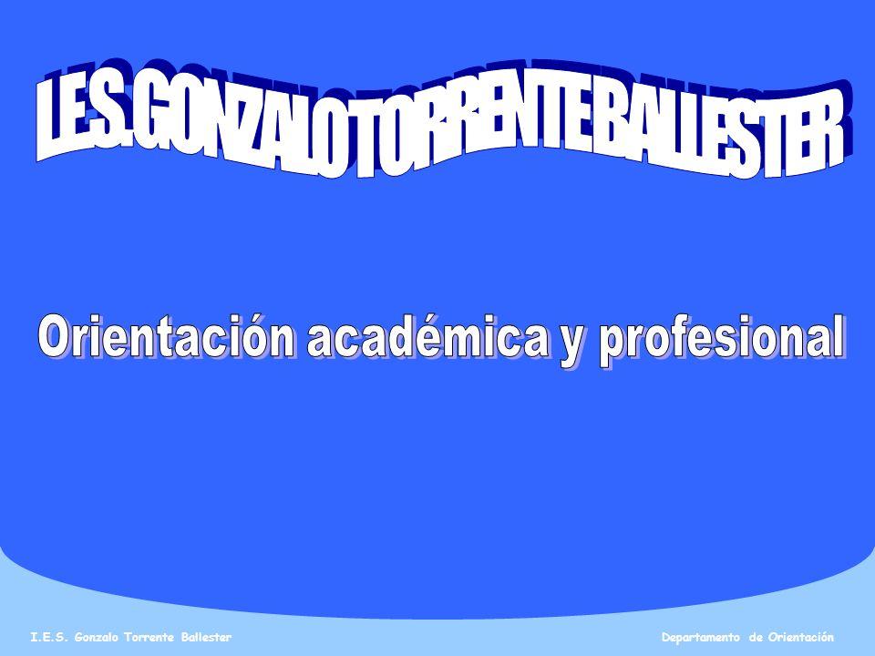I.E.S. GONZALO TORRENTE BALLESTER Orientación académica y profesional
