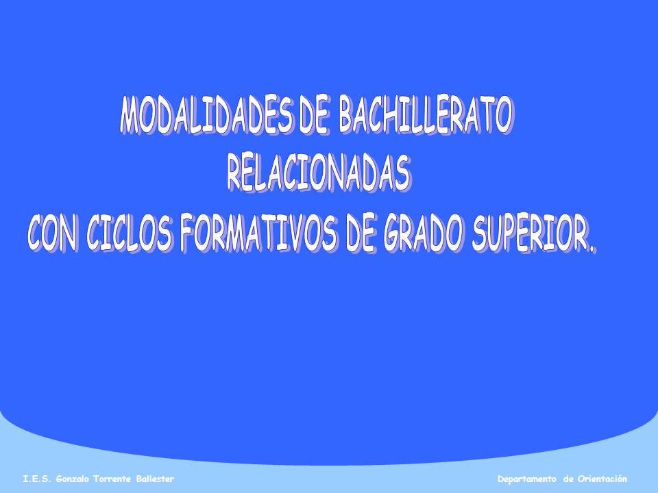 MODALIDADES DE BACHILLERATO CON CICLOS FORMATIVOS DE GRADO SUPERIOR.