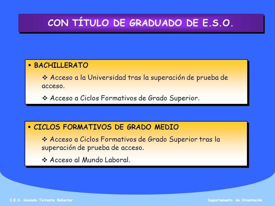 CON TÍTULO DE GRADUADO DE E.S.O.