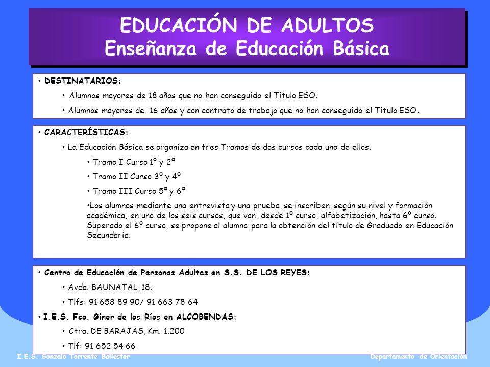 Enseñanza de Educación Básica