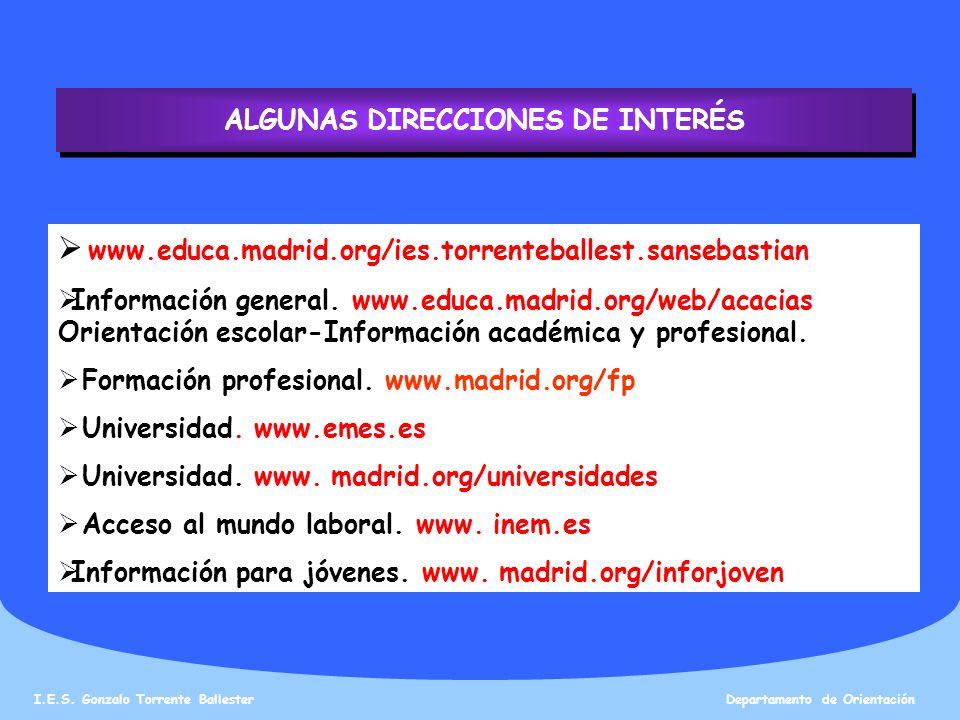 ALGUNAS DIRECCIONES DE INTERÉS