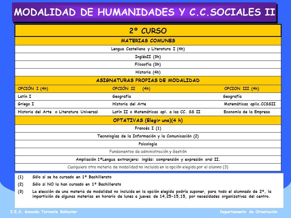 MODALIDAD DE HUMANIDADES Y C.C.SOCIALES II