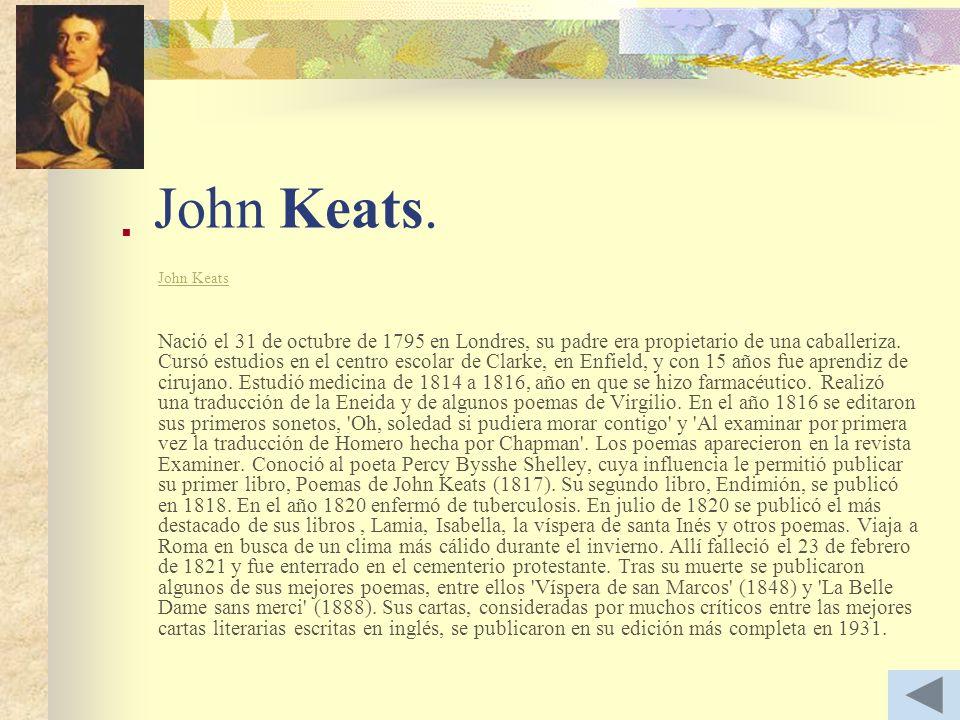 John Keats.