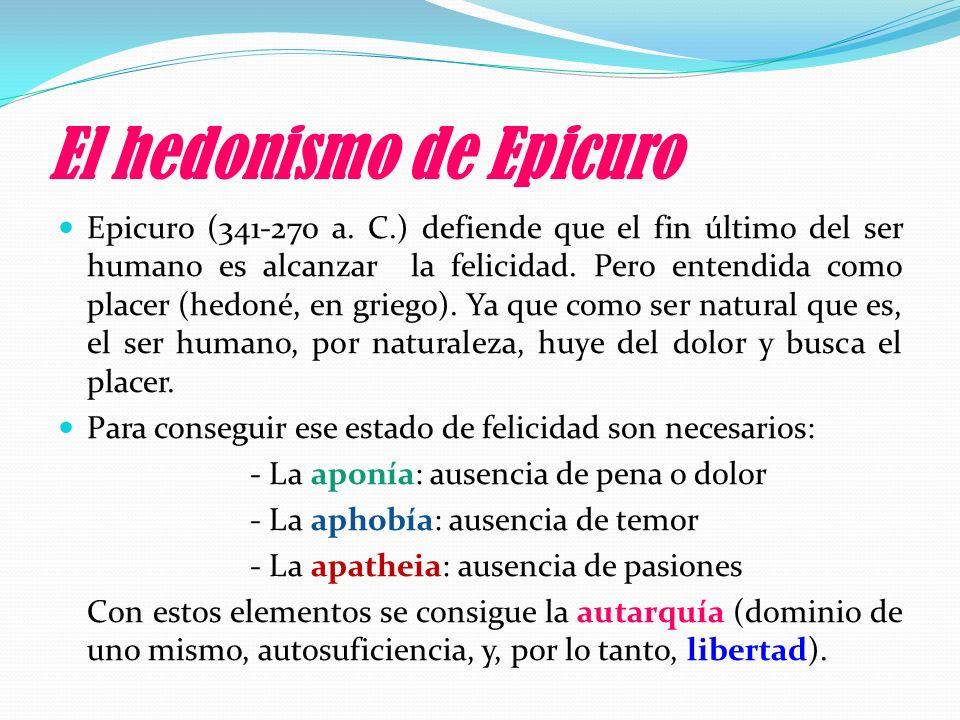 El hedonismo de Epicuro