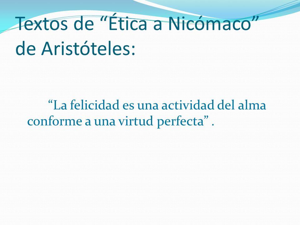 Textos de Ética a Nicómaco de Aristóteles: