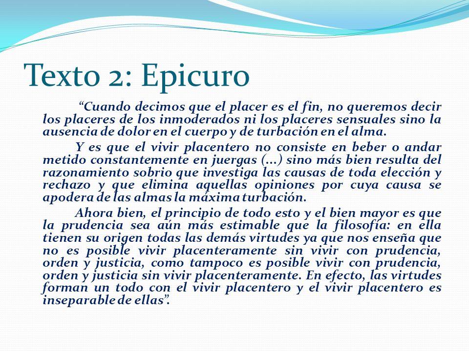 Texto 2: Epicuro