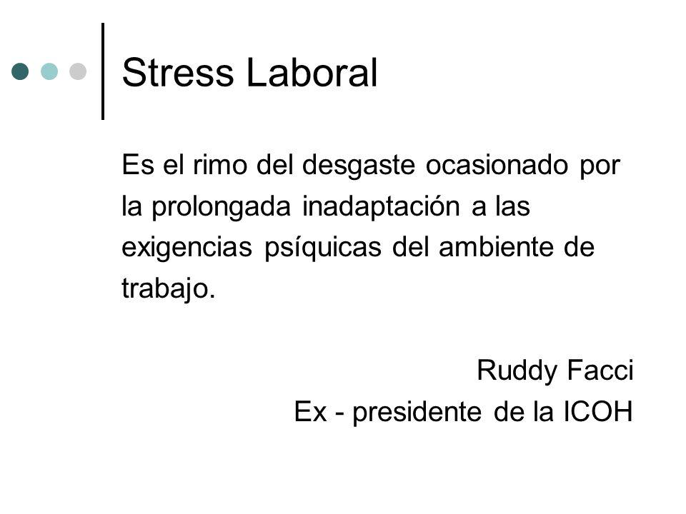 Stress Laboral Es el rimo del desgaste ocasionado por