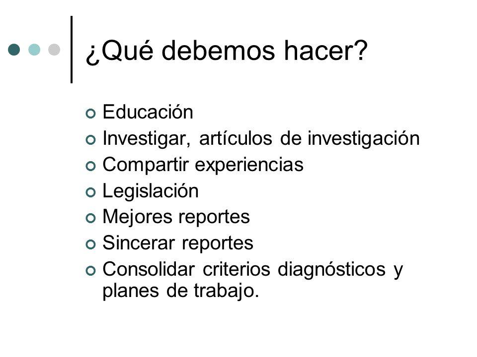¿Qué debemos hacer Educación Investigar, artículos de investigación