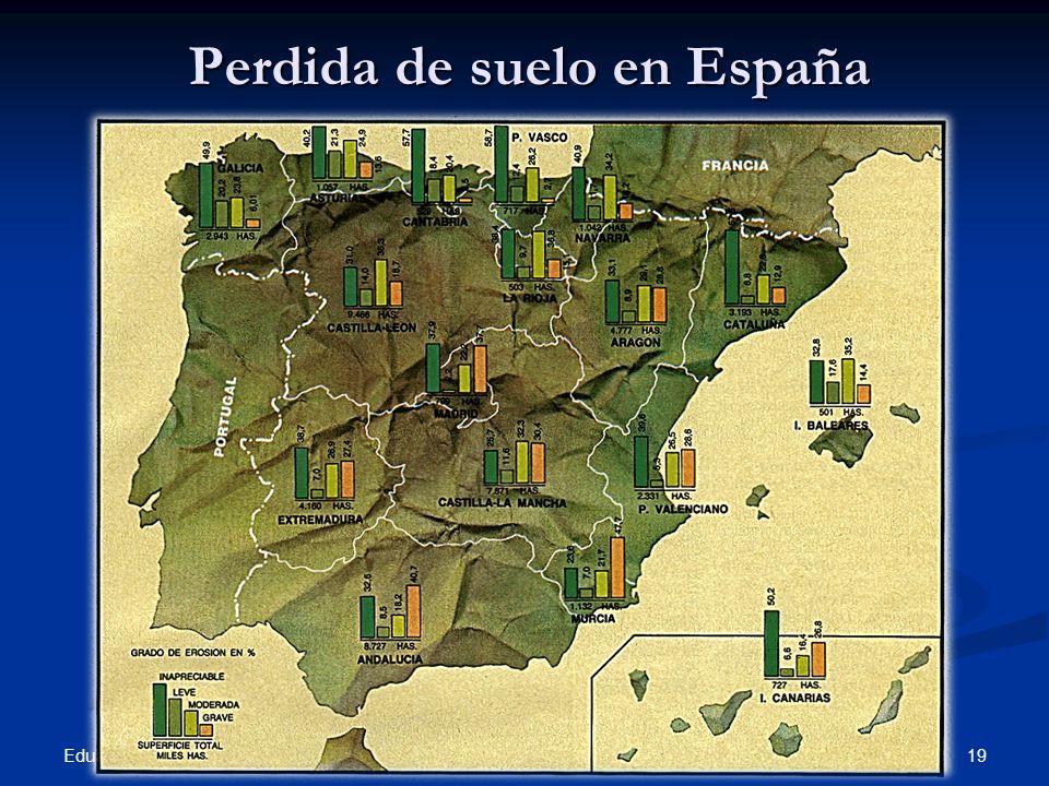 Perdida de suelo en España