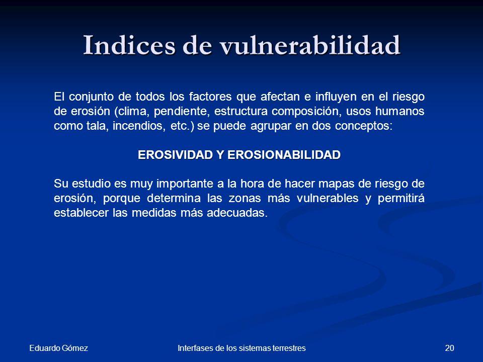 Indices de vulnerabilidad