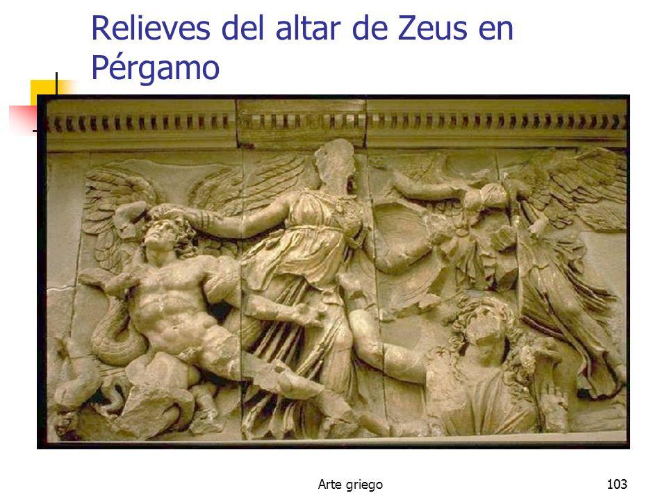 Relieves del altar de Zeus en Pérgamo