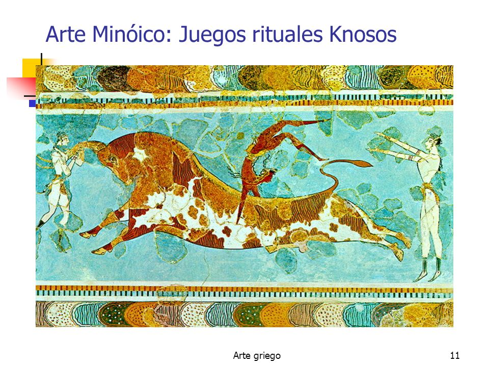 Arte Minóico: Juegos rituales Knosos