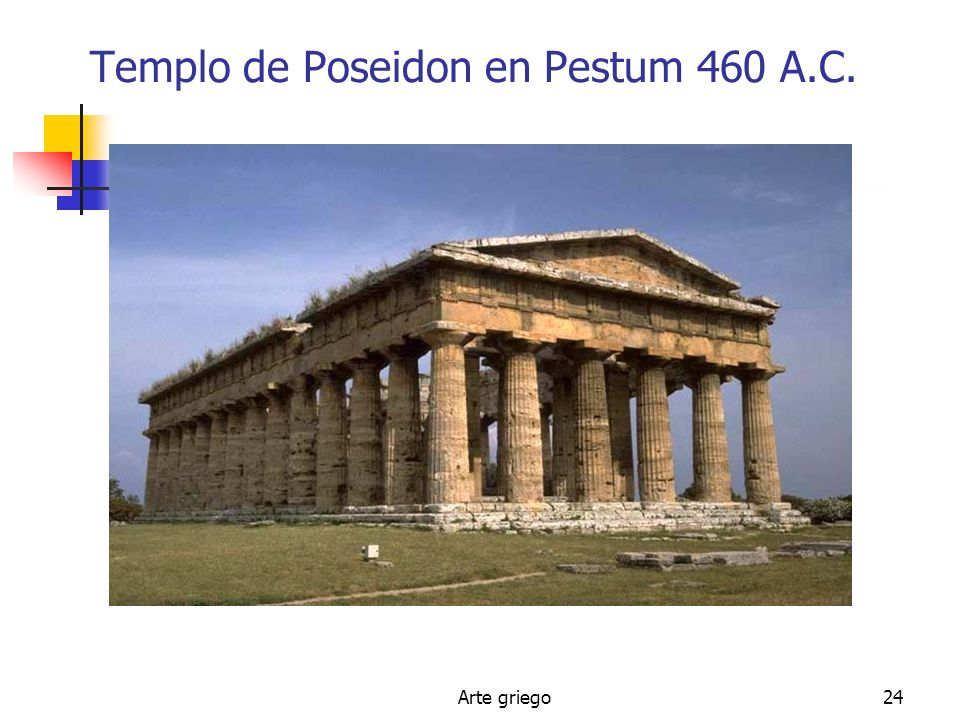 Templo de Poseidon en Pestum 460 A.C.