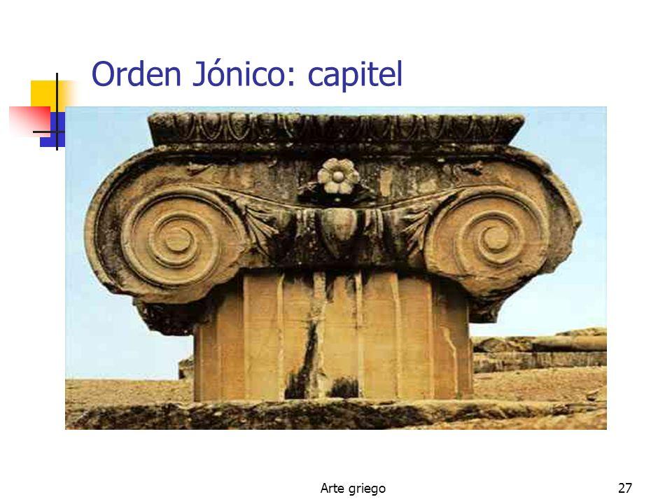 Orden Jónico: capitel Arte griego