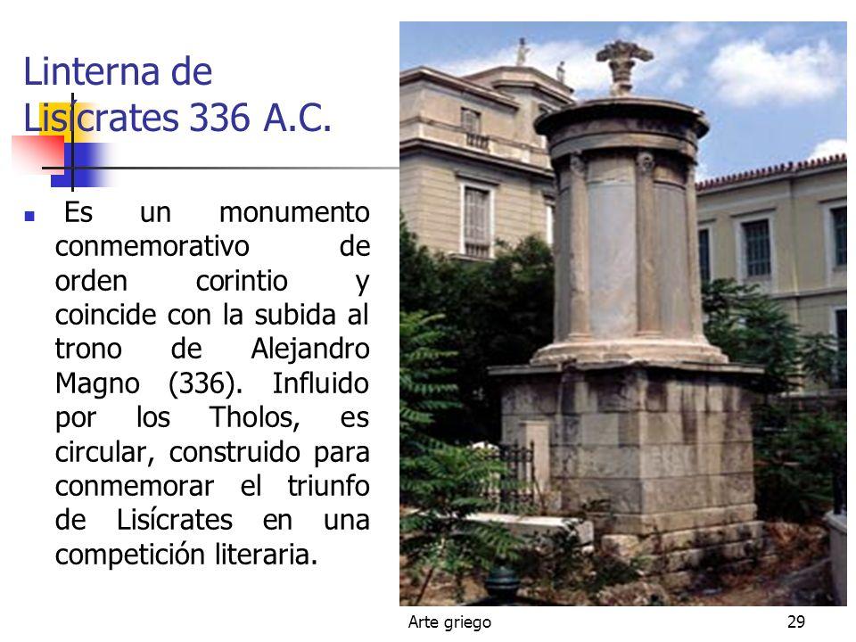Linterna de Lisícrates 336 A.C.