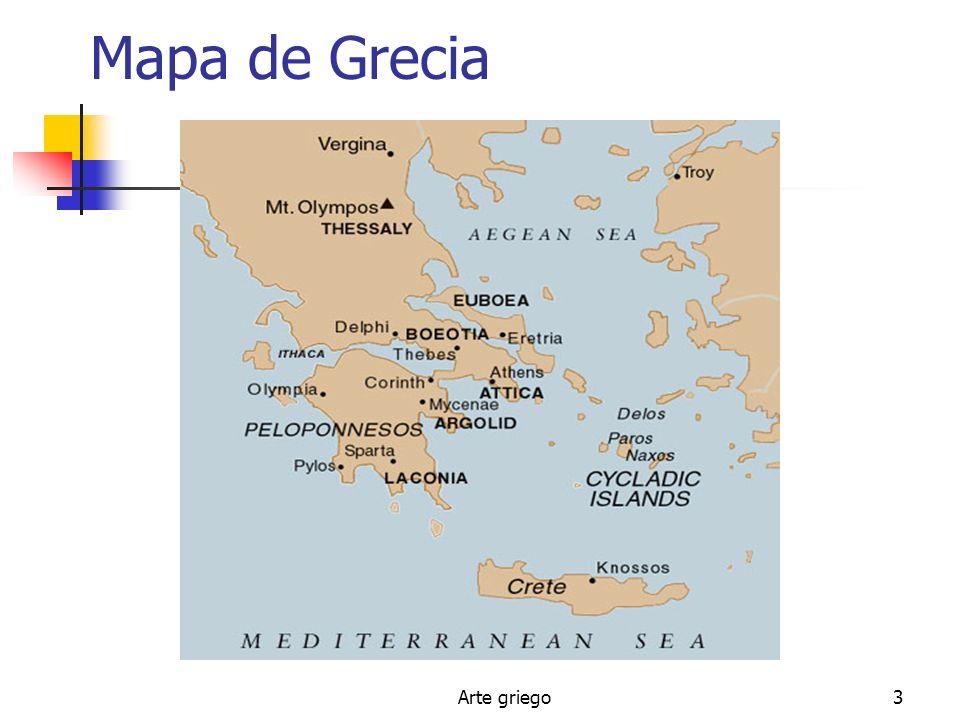 Mapa de Grecia Arte griego