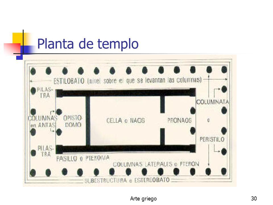 Planta de templo Arte griego