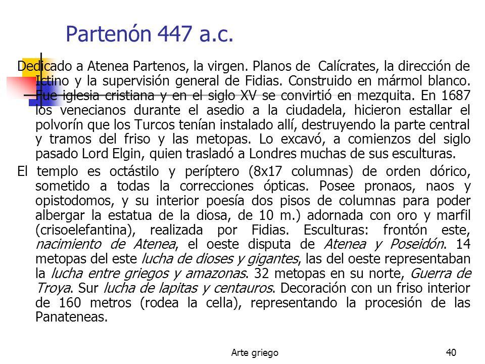 Partenón 447 a.c.