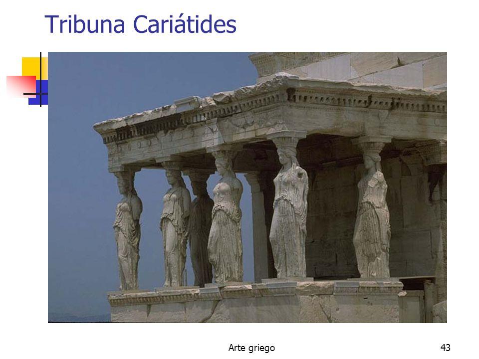 Tribuna Cariátides Arte griego