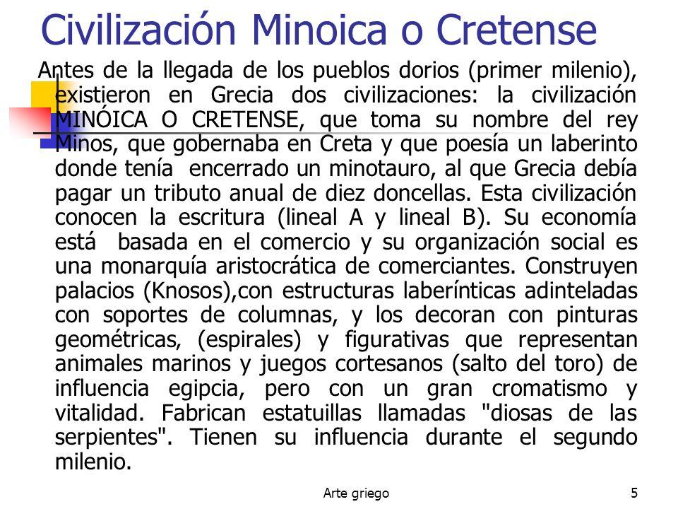 Civilización Minoica o Cretense
