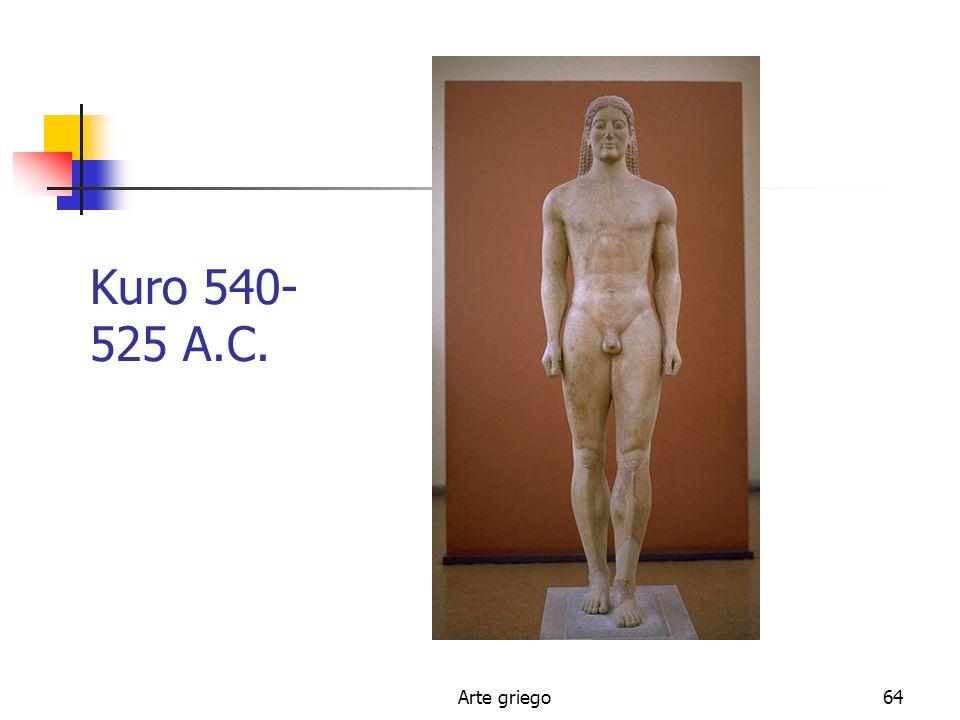Kuro 540-525 A.C. Arte griego