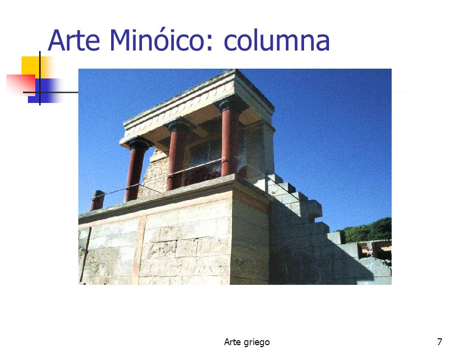 Arte Minóico: columna Arte griego