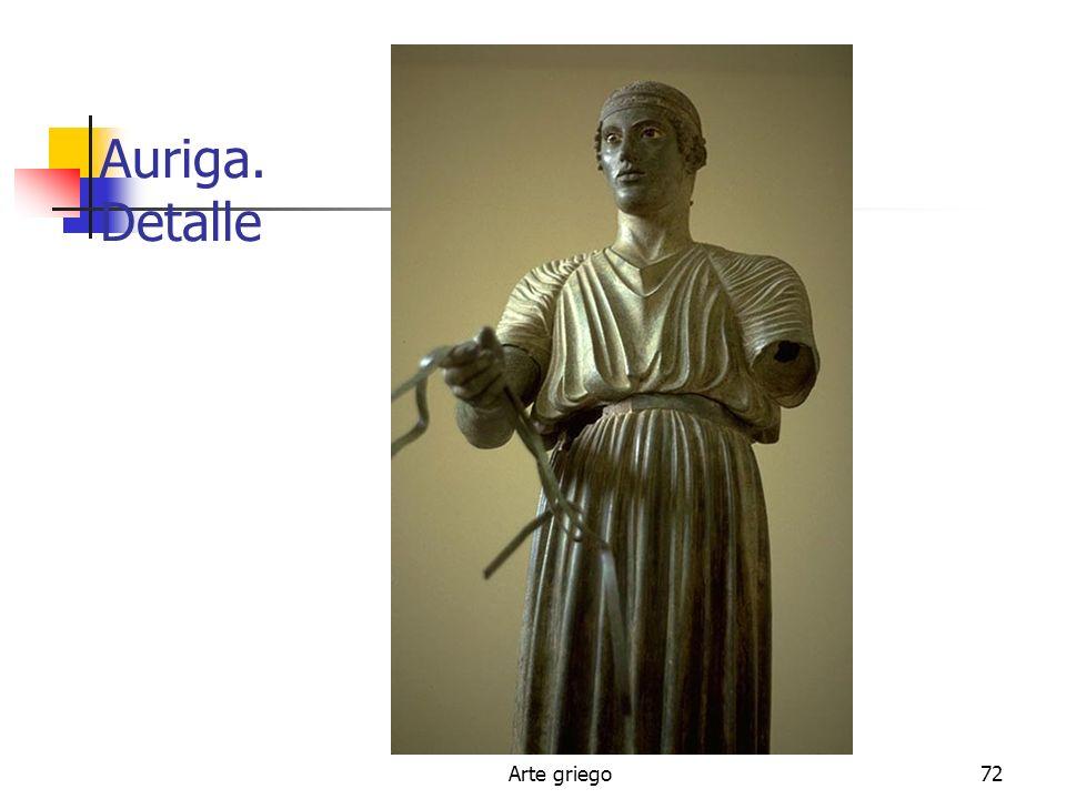 Auriga. Detalle Arte griego